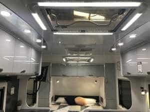 caravan lighting interior kitchen bed