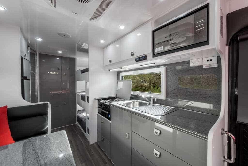 family caravan interior