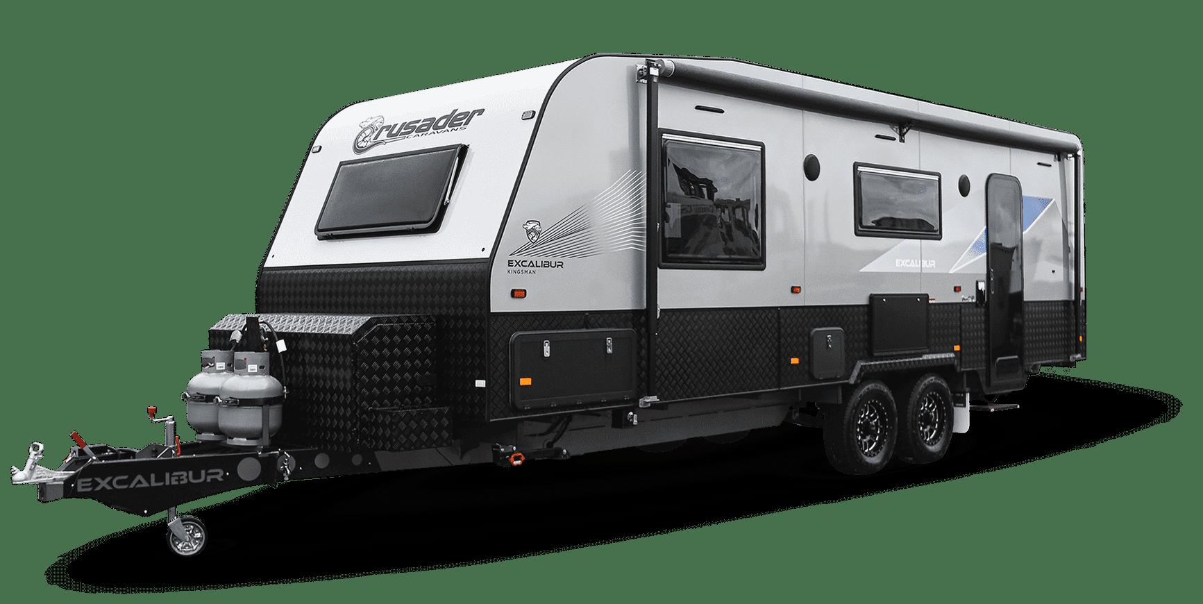 Image of the Crusader Caravan Excalibur Kingsman model.