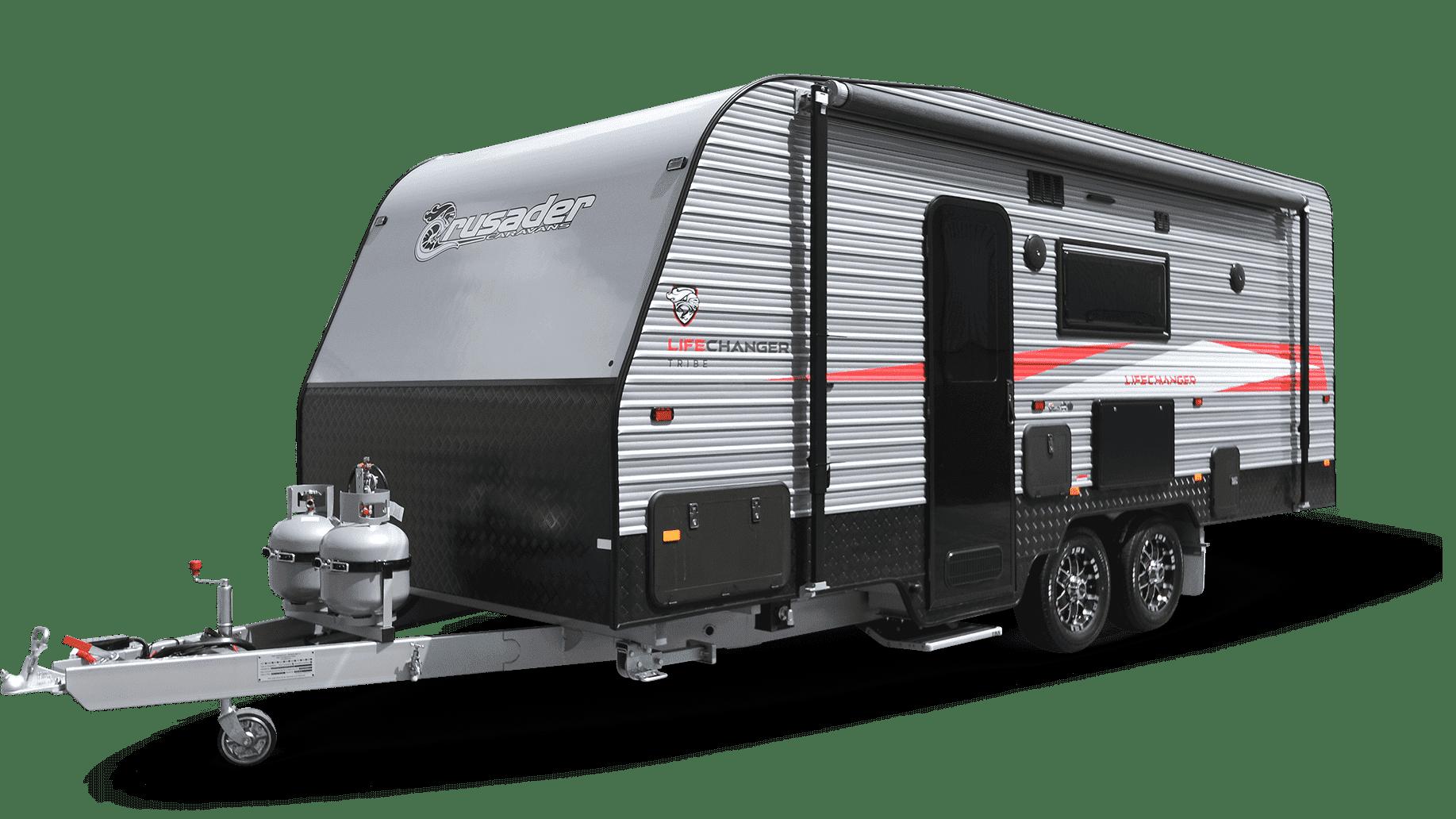 New caravans for sale at Lewis RV including Crusader Lifechanger Tribe.